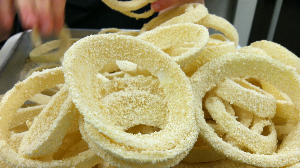 Onion Rings in homemade breading